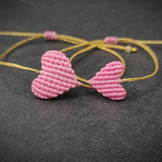 Gold macrame mum and daughter set with pink heart Code: GS1004 ______________________________ Χρυσό μακραμέ σετ μαμά κόρη με ροζ καρδιά Κωδικός: GS1004 ______________________________ #jcmacrame #juliascollection #macrame #hearts #macramehearts #macramejewelry #macramebracelet #bracelet #braceletoftheday #macramelove #macramedesign #pink #pinkmacrame #pinkheart #pinkonly #loveit #❤️ #pinkset #mumanddaughter #daughter #macrameset