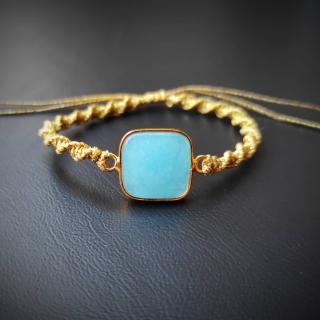 Gold macrame bracelet with light blue achatis stone Code: BLBAX1004 Price: From 14,90€ - > 8, 20€  ______________________________ Χρυσό μακραμέ βραχιόλι με γαλάζια φυσική πέτρα αχάτη Κωδικός: BLBAX1004 Τιμή: Από 14,90€ - > 8,20€ ______________________________ #jcmacrame #juliascollection #macrame  #macramejewelry #achatis #macramebracelet #bracelet #braceletoftheday #macramelove #macramedesign  #blue #gold #stones #gems #loveit #loveblue #lightblue #❤️