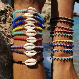 Summer macrame bracelet set with white shell and  glass beads Price: From 9€ to 6.20€ only  ______________________________ Καλοκαιρινό μακραμέ σετ βραχιολιών με κοχύλι και κρυστάλλινες χάντρες  Τιμή: Από 9€ μόνο 6.20€ ______________________________ #jcmacrame #juliascollection #macrame #macrameshell #shell  #macramejewelry #shells #macramebracelet #bracelet #braceletoftheday #macramelove #macramedesign #white #whiteshell #purple #yellow #pink #black #red #lightblue #petrol #green #❤️