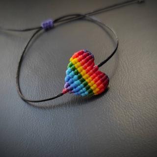 Colorful macrame heart bracelet 'pride'  Code: LGHE1001 Price: 7,80€ ______________________________ Πολύχρωμο μακραμέ βραχιόλι καρδιά 'pride'  Κωδικός: LGHE1001 Τιμή: 7,80€ ______________________________ #juliascollection #macrame #jcmacrame #macramebracelet #handmade #handmadebracelets #colorfulbracelet #colorful #pride #lgbtq #lgbtq🌈 #gay #gaypride #colorfuljewelry #respect #🌈 #onlylove #love #heart #❤️ #💛 #💚 #💙 #💜 #🖤